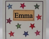 Star Collection Coaster Personalise with your own name