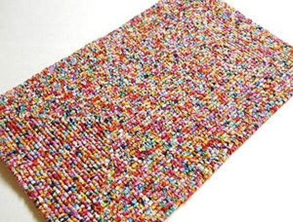 Locker Hooked Tie Dye Rug Locker Hooking Scatter Rug Hooked
