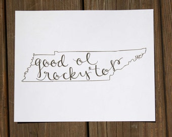Tennessee: Rocky Top Print