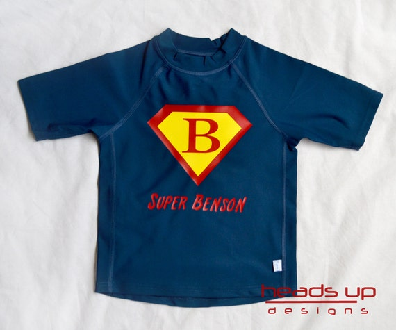 Superman Rash-Guard Toddler Boy - Boy Personalized Swim Shirt Superman - Superman Rashguard - Rash Guard Superman Boy -