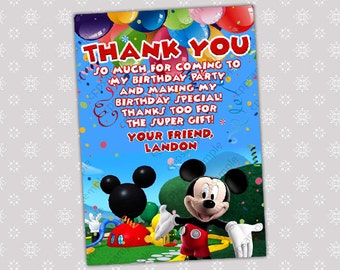 Mickey Mouse Clubhouse Thank You card -  Digital File