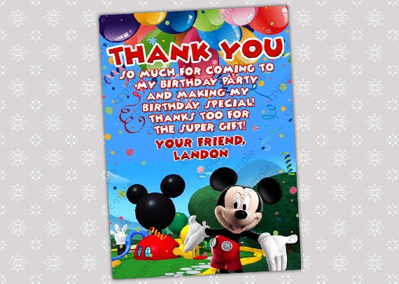 Mickey Clubhouse Invitations as perfect invitations ideas