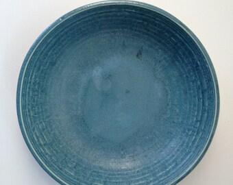 Vintage Blue Pottery Pie Plate/Bowl