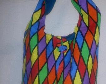 Assorted Diamonds Print Tie Handbag