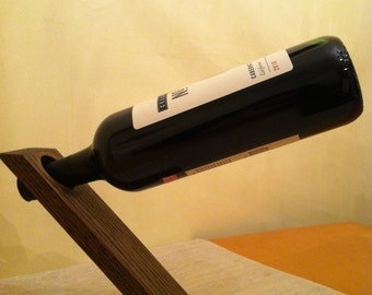 Wooden Balancing Wine Bottle Holder