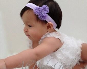 Purple Baby Headband, Baby Headband, Baby Headpiece, Purple Headband, Infant Headbands, Newborn Headband, Flower Headband, Baby Headpiece