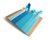 Elastic Hair Ties Blue Shades Yoga Hair Bands