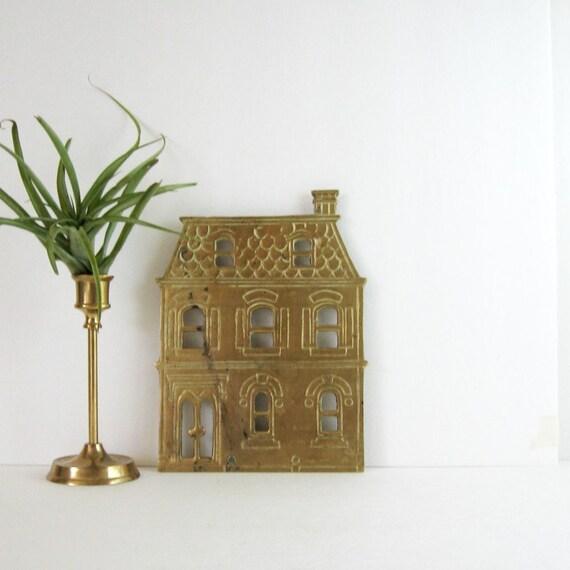 Brass Kitchen Wall Decor : Vintage brass trivet victorian house home decor