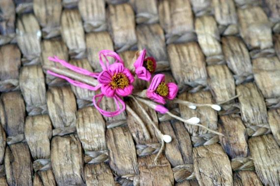 Rustikale Fuchsia schäbig schicke Blumen Verzierung FL-028