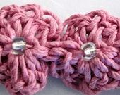 Natural Hemp Flower Bracelet in Pink