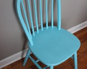 Upcycled Turquoise Chair