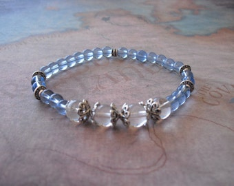 Light blue crystal quartz bracelet