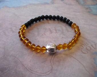 Yellow topaz bracelet