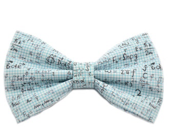 Math Equation Bow Tie, with Adjustable Strap, Teacher Gifts, Gifts For Teacher, Math Gift