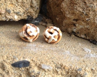 Cinnamon Roll Sticky Bun Earrings