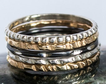 Mixed Metal Ring Set