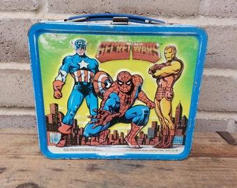 Secret Wars Metal Lunchbox, 80s, Collectible Vintage IT389 BD1 DeAnnasAttic
