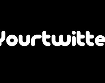 Custom Twitter Follow Me Twitter Handle Decal Sticker FREE USA SHIPPING!