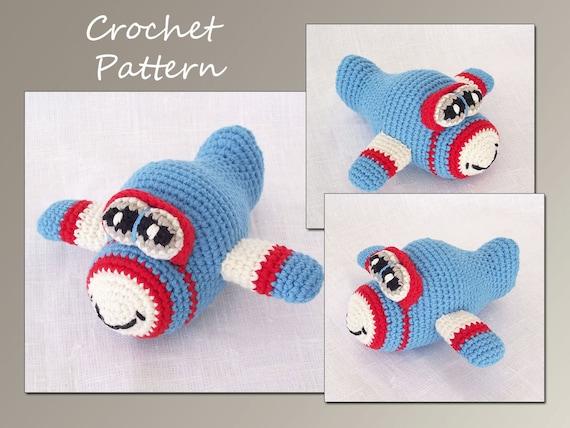 Crochet Pattern, Amigurumi, Airplane Crochet Pattern, Pdf Crochet Pattern, CP-122