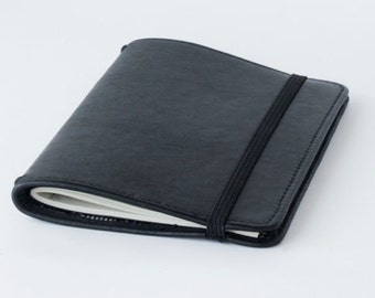 Handmade Genuine Leather Journal Cover / leather moleskin cover  - pocket size