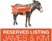 RESERVED: James & Kim's Wedding Invitation Deposit