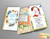 Little Golden Book Theme Baby Shower Invitation- or All occasions