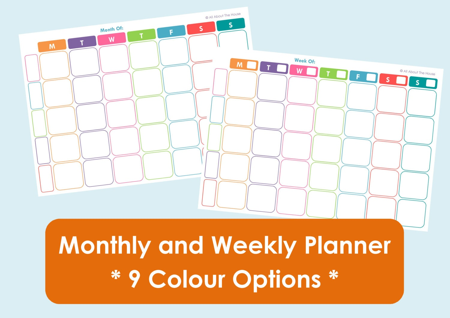 Family Planner Calendar Nz : Printable weekly family planner and monthly calendar