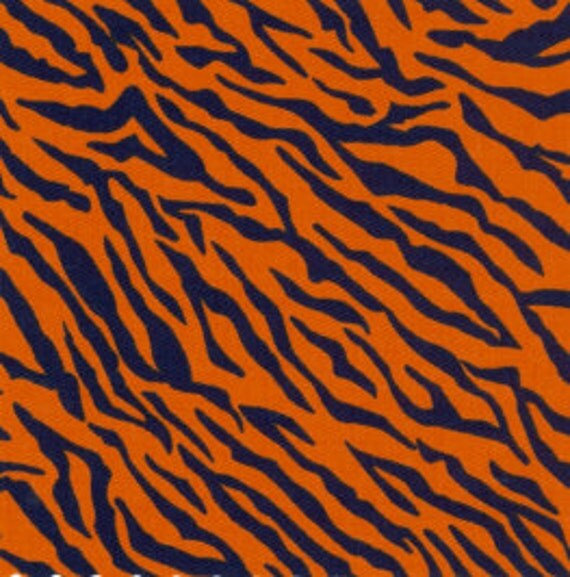 navy blue and orange tiger fabric by fabric finders 1 yard. Black Bedroom Furniture Sets. Home Design Ideas