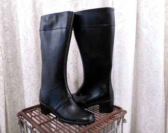 Popular Items For Black Rubber Boots On Etsy