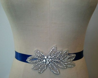 Wedding Belt, Bridal Belt, Sash Belt, Bridesmaid Belt -  Crystal Rhinestone - Style B1014B