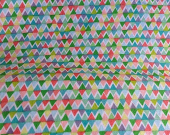 "Khristian Howell ""Sweet Tea"" Multicolored bunting flags print 100% Cotton Fabric"