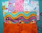 Stocking Stuffer- Toy Roll/Car Roll - girl fabrics