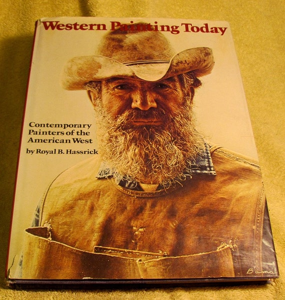 Western Book Cover Art : Items similar to art book quot western painting today vintage