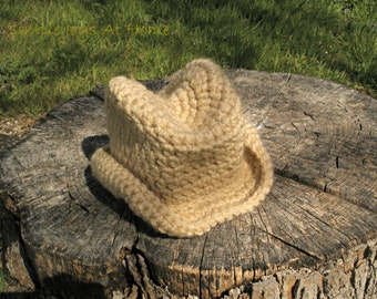 Crocheted Baby Cowboy Hat // Cowgirl Hat // Cowboy Hat // Crocheted Baby Booties // Photo Prop // Baby Shower Gift // Photographer Gift