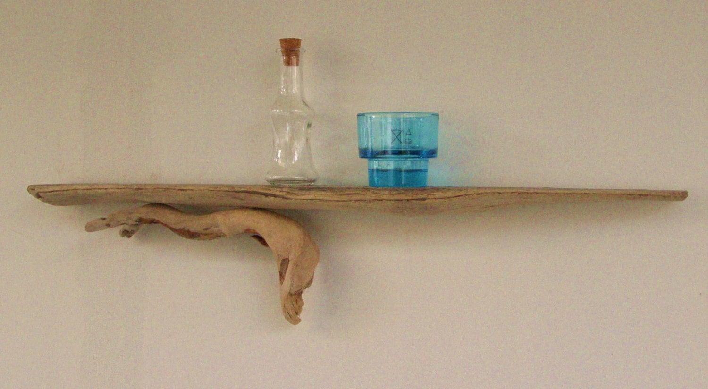 Driftwood natural shelf driftwood decoration by tassostudio for Driftwood wall shelves