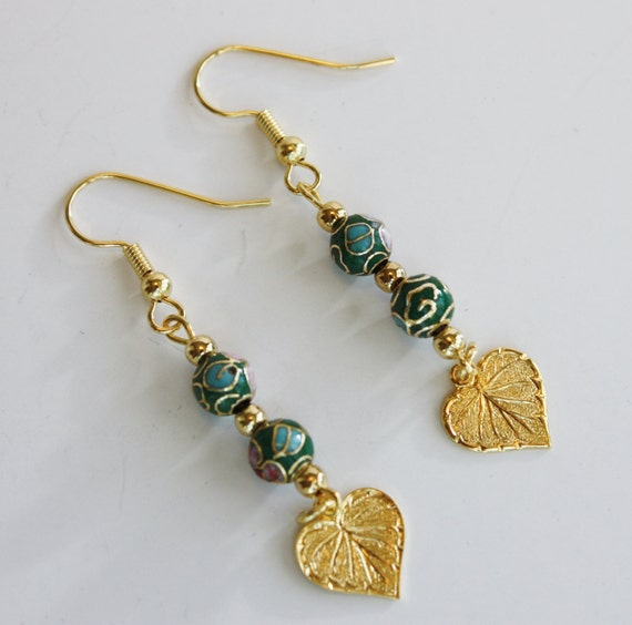 items similar to cloisonne beaded earrings wire