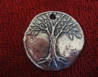 925 sterling silver  oxidized tree of life charm, pendant