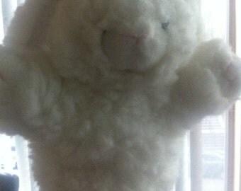 Vintage rabbit hand puppet