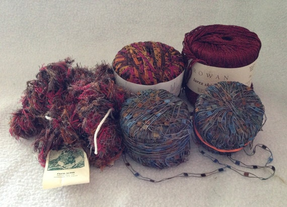 Mixed Bag Of Yarn - Great Adirondack and More - 6 Skeins
