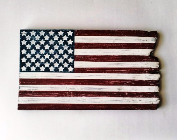 Barn wood american flag patriotic wall decor rustic country for American flag decoration