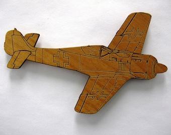 FW-190 Wooden Fridge Magnet