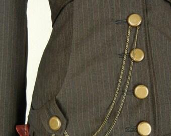 The Nimary Skirt, full length, high waist, back lacing