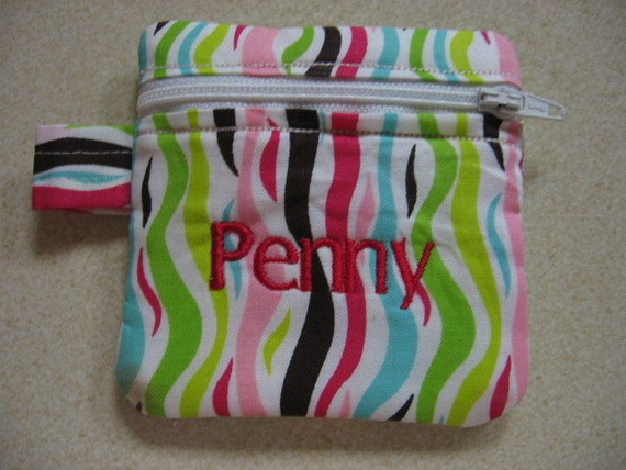 Instant download zipper bag name project by unlimitedstitching