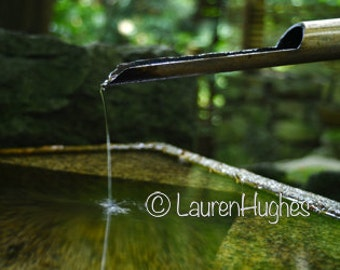 Zen Fountain, Feng Shui Fountain. Nature Photography Gallery Wrapped Canvas.
