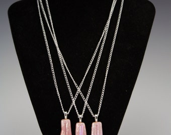 Pink Bridesmaid Glass Necklaces ( Pick your color and design to match your wedding style)