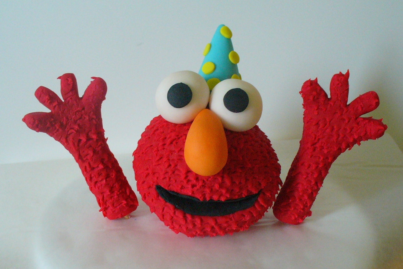 Elmo Edible Cake Topper