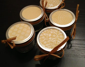 Twenty, 4 ounce yellow baby shower favor candles