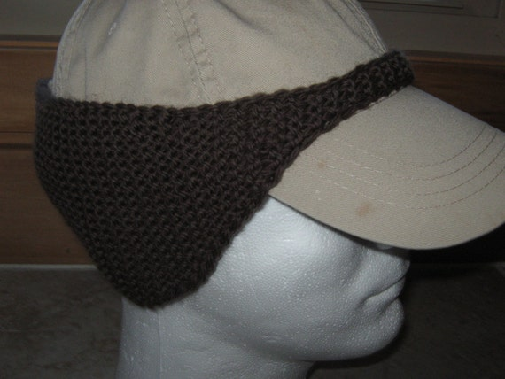 Free Crochet Patterns For Men s Ear Warmers : Pattern for knitted Baseball Cap Ear Warmer by ...