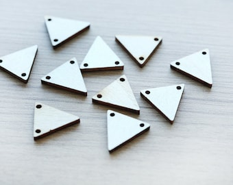 Triangle wood Pendents for making jewlery - 10 pcs of Unfinished triangle wooden pendents - wood supplies - 20mm
