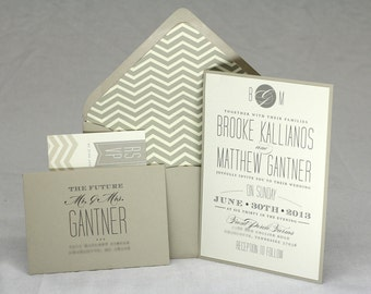 Chevron Wedding Invitation // Modern and Elegant // Purchase this Listing to Get Started